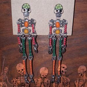 Almost Vintage Skeleton Earrings
